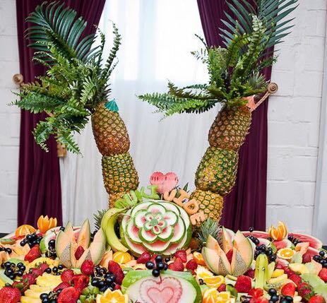 Double Pinele Palm Tree Fruit Display Fruitusa